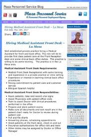 Medical Assistant Back Office Duties Hiring Medical Assistant Front Desk La Mesa Assistant
