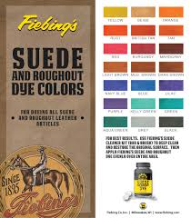 suede dye color chart
