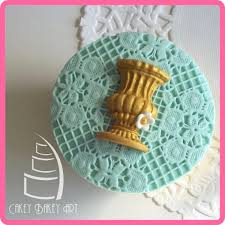 Decorated Cooking Urn Fondant Silicone Mold Cake Decorating Tools Vintage Pot Urn 78