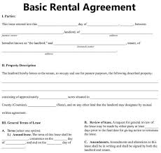 Simple Rental Lease Agreement Free Blank Lease Agreement Basic Rental Agreement Fillable