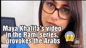 Maya Khalifa's video in rami series, provokes les arabs - YouTube
