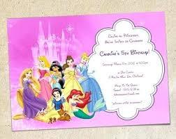 Princess Birthday Party Invitations Pink Princesses Birthday Party