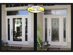 all glass front door fiberglass entry door with sidelights and transom traditional and classic front entry all glass front door