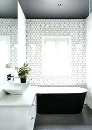 grey tiles black grout modern stylish hexagon ideas for bathrooms dark floors a ceiling and white