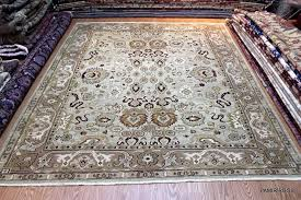 wool rug 8 x 10 sumak oriental rug handmade sage green light brown light blue