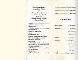 sample wedding program wording wedding program