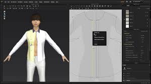 Designer Shirt With Holes Marvelous Designer 6_button Buttonhole