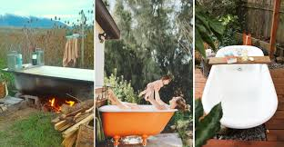 backyard bathtubs for soaking up the great outdoors outdoor tubs are the most country thing you never knew you needed