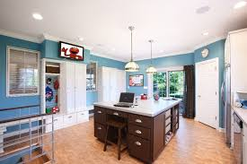 laundry room office. Laundry Room Office Design Blue Wall Modern With Walls Built In Image