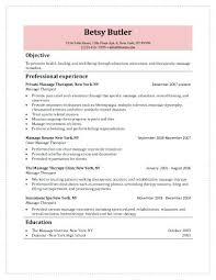 Massage Therapist Resume Example Massage Therapist Sample Resume