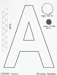 Letter A Template Alligator Template This Blog Has A Template For All The Abcs