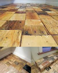 easy to build wood pallet flooring at no cost diy design decor cleaning old pallet wood