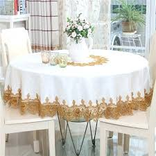 table with tablecloth elegant hollow out lace embroidered jacquard fabric table linen round table cloths picnic