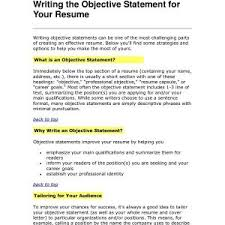 Ow To Write Objective In Resume Wichetrun Com