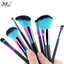 aliexpress anmor rainbow makeup brushes set professional pincel maquiagem included powder contour eye make up brushes