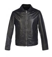 joop black leather jacket zoom