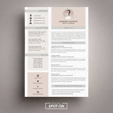 17 Best Resume Cv Template By Spot Resume Images By Spot Microsoft