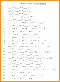 balancing chemical equations worksheet grade or chapter 8 set 3 year 10 100 problems equatio