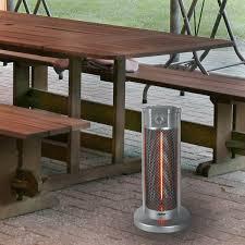patio ideas sahara 4 5kw tabletop patio heater reviews table top