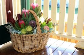 Basket Flower Decoration Native Flower Arrangement In A Basket A How To Tutorial By