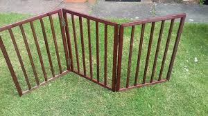 folding wooden dog gate
