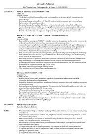 Transaction Coordinator Resume Sample Transaction Coordinator Resume Samples Velvet Jobs 1