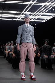 anorak men s fashion watch hyperventilating at the thom browne a model wears a creation by american designer thom browne as part of his men s
