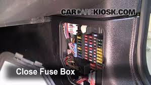 interior fuse box location 2008 2015 mini cooper 2009 mini test component secure the cover and test component