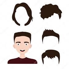 若い男のヘアカット男の子の髪型 ストックベクター Sashazerg