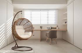 interior amazing diy interior design with hanging lounge in middle placed on marble flooring