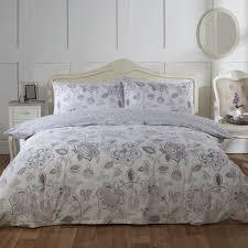 eliza mauve fl luxury reversible easy care duvet set