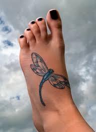 Blue Dragonfly Tattoo On Leg Tattoos Book 65000 Tattoos Designs