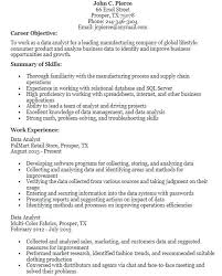 Analyst Resume Objective Sample Senior Business Analyst Resume ...