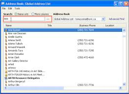 Global Address List Outlook 2010 And 2013 University Of Victoria