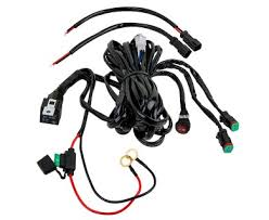 led light wiring harness with relay and weatherproof switch dual light bar wiring harness diagram at Led Wiring Harness