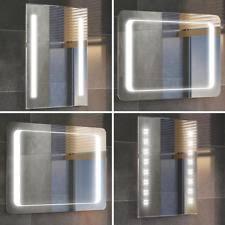 bathroom mirrors with lighting. Modern Backlit Slimline Illuminated Bathroom Mirrors With Light Sensor Switch Lighting