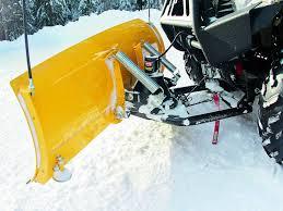 atv and utv snow plow buyer s guide atv illustrated warn