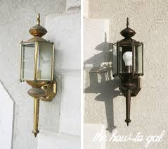 updating outdated light fixtures with rustoleum spray paint