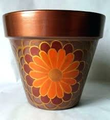clay flower pots pot painting ideas new hand painted for mothers day h painted clay pots container gardening crafts