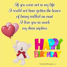 Birthday Wishes For Nephew From Aunt Occasions Messages