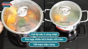 Kukmart - Review bếp đôi điện từ hồng ngoại SUNHOUSE MAMA SHB9100