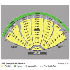 Alltel Pavilion Seating Chart 11 Ageless Dte Energy Theater Seating