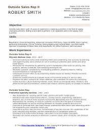 Sample Outside Sales Resume Outside Sales Rep Resume Samples Qwikresume