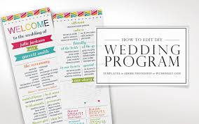 Printable Wedding Program Templates How To Edit Printable Wedding Program Templates Faire Li
