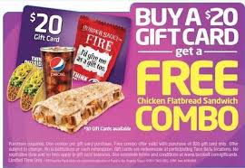 taco bell bo with 20 gift card purchase