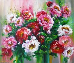 flower paintings handmade livemaster handmade palette knife painting on canvas abstract flower