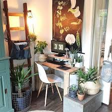eclectic office furniture. Eclectic Workspace With Botanical Print // Via @workspacegoals On Instagram. Office DecorDesk Furniture A