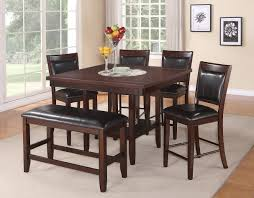 6 Pc Counter Height Table Chair Bench Set Fulton By Crown Mark