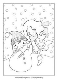 Winter coloring pages mean a lot of fun and many exciting possibilities: Winter Colouring Pages For Kids
