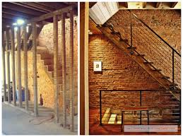 Unfinished Basement Exposed Brick Wall Before  After - Ununfinished basement before and after